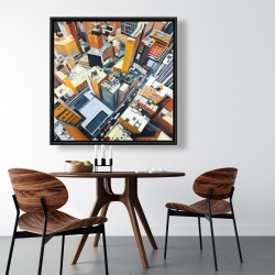 Framed 36 x 36 - High top view of buildings in new york
