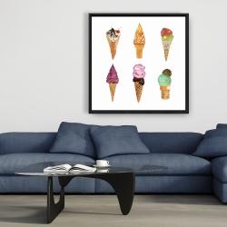 Framed 36 x 36 - Ice cream cones