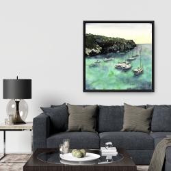 Framed 36 x 36 - Boats in cala macarella