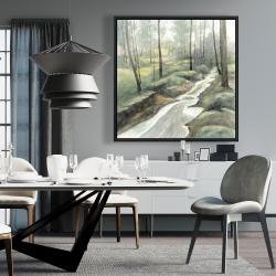 Framed 36 x 36 - Waterfall