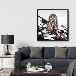 Framed 36 x 36 - Tawny owl