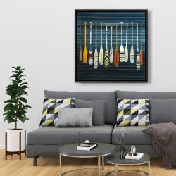 Framed 36 x 36 - Paddles