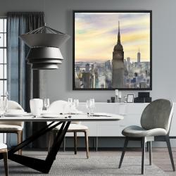 Framed 36 x 36 - Sunset over new york city
