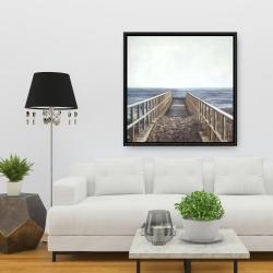 Framed 36 x 36 - Relaxing beach