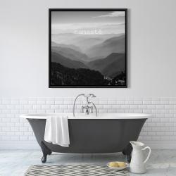 Framed 36 x 36 - Namaste monochrome