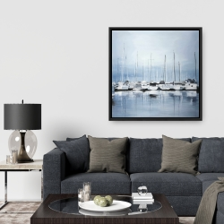 Framed 36 x 36 - Boats at the dock 2
