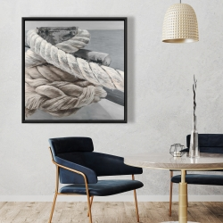 Framed 36 x 36 - Twisted boat rope