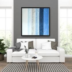 Framed 36 x 36 - Blue stripes