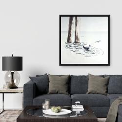 Framed 36 x 36 - Seagull