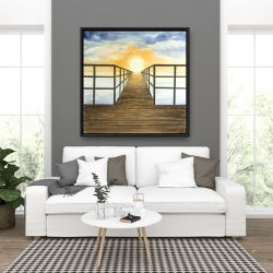 Framed 36 x 36 - Sunset in the sea