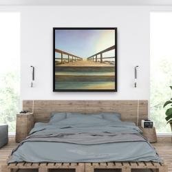 Framed 36 x 36 - Footbridge
