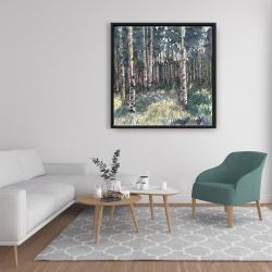 Framed 36 x 36 - Birches