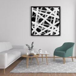 Framed 36 x 36 - Geometric stripes