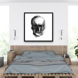 Framed 36 x 36 - Watercolor dark skull
