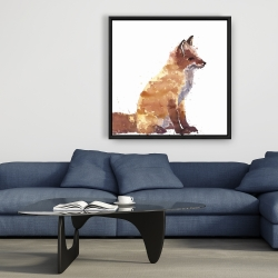 Framed 36 x 36 - Red fox