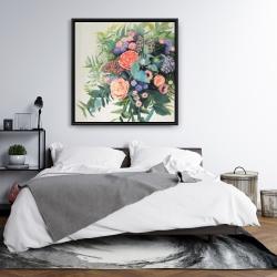 Framed 36 x 36 - Flowers melody