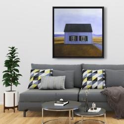 Framed 36 x 36 - Blue barn
