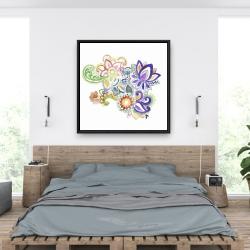 Encadré 36 x 36 - Paisley aquarelle