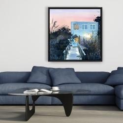Framed 36 x 36 - Beach house