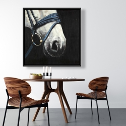 Framed 36 x 36 - Horse with harness
