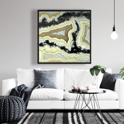 Framed 36 x 36 - Lace agate