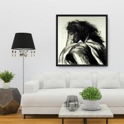 Framed 36 x 36 - Classical horse