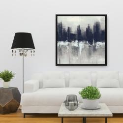 Framed 36 x 36 - Dark city