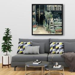 Framed 36 x 36 - Plants shop