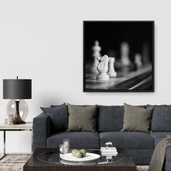 Framed 36 x 36 - Monochrome chess games