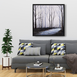 Framed 36 x 36 - Sad forest