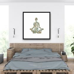 Framed 36 x 36 - Zen attitude