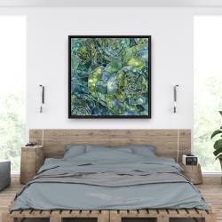 Encadré 36 x 36 - Succulents abstrait