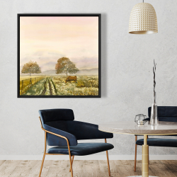 Framed 36 x 36 - Sweet morning in the countryside