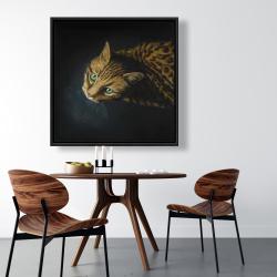 Framed 36 x 36 - Bengal cat