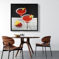 Framed 36 x 36 - Two cosmopolitan
