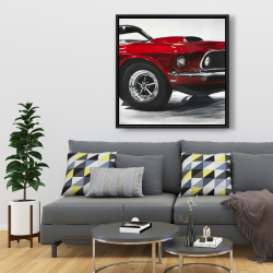 Framed 36 x 36 - Classic red car