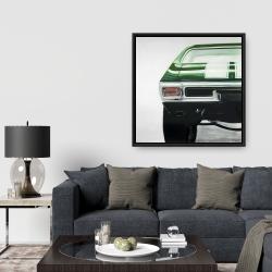 Framed 36 x 36 - Classic dark green car