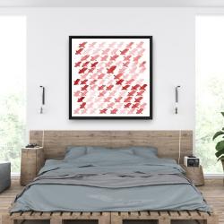 Framed 36 x 36 - X red pattern