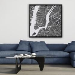 Framed 36 x 36 - New-york city plan
