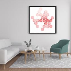 Framed 36 x 36 - Alveoli red