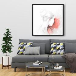 Framed 36 x 36 - Pastel woman