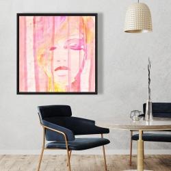 Framed 36 x 36 - Abstract portrait feminine
