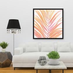 Framed 36 x 36 - Glam palm leaf