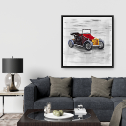 Framed 36 x 36 - Vintage car with sunroof