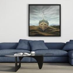 Framed 36 x 36 - Boat