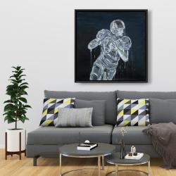 Framed 36 x 36 - Football player