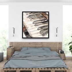 Framed 36 x 36 - Piano
