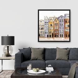 Framed 36 x 36 - Amsterdam houses hotel