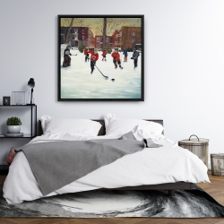 Framed 36 x 36 - Young hockey players