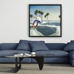 Framed 36 x 36 - Skate park california
